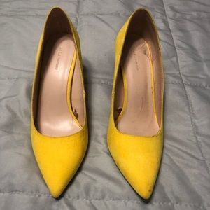 Zara | Yellow Pointed Pumps